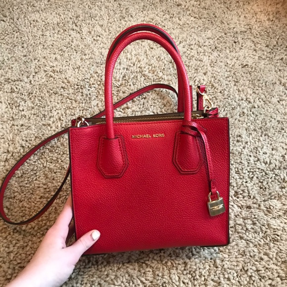853e20892c50 Michael Kors Bags | Red Square Crossbody Bag | Poshmark